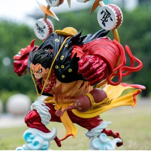 One piece is a japanese anime manga series that focuses on monkey d. Jual Resin Pop Monkey D Luffy Gear 4 Kabuki Battle Ver One Piece Figure Kab Pemalang Tomzhobby Tokopedia