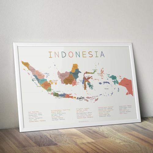 Ukuran kertas a4 dalam pixel (150 dpi) = 1240 x 1754 pixel Jual Peta Indonesia Poster Edukasi Anak Indonesia Maps Kids Wall Art A4 21x29 7 Cm Kab Tangerang Woodymommy Tokopedia
