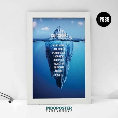 poster motivasi sukses success iceberg a2 60x40cm di indoposter tokopedia