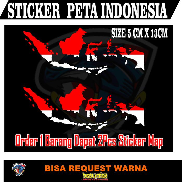 Go to download 784x297, peta indonesia merah putih png image now. Jual Sticker Peta Indonesia Merah Putih Kab Bekasi Bgsticker Tokopedia