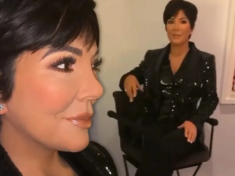 Kris Jenner Keeps a 'Creepy and Amazing' Wax Figure of Herself at Home