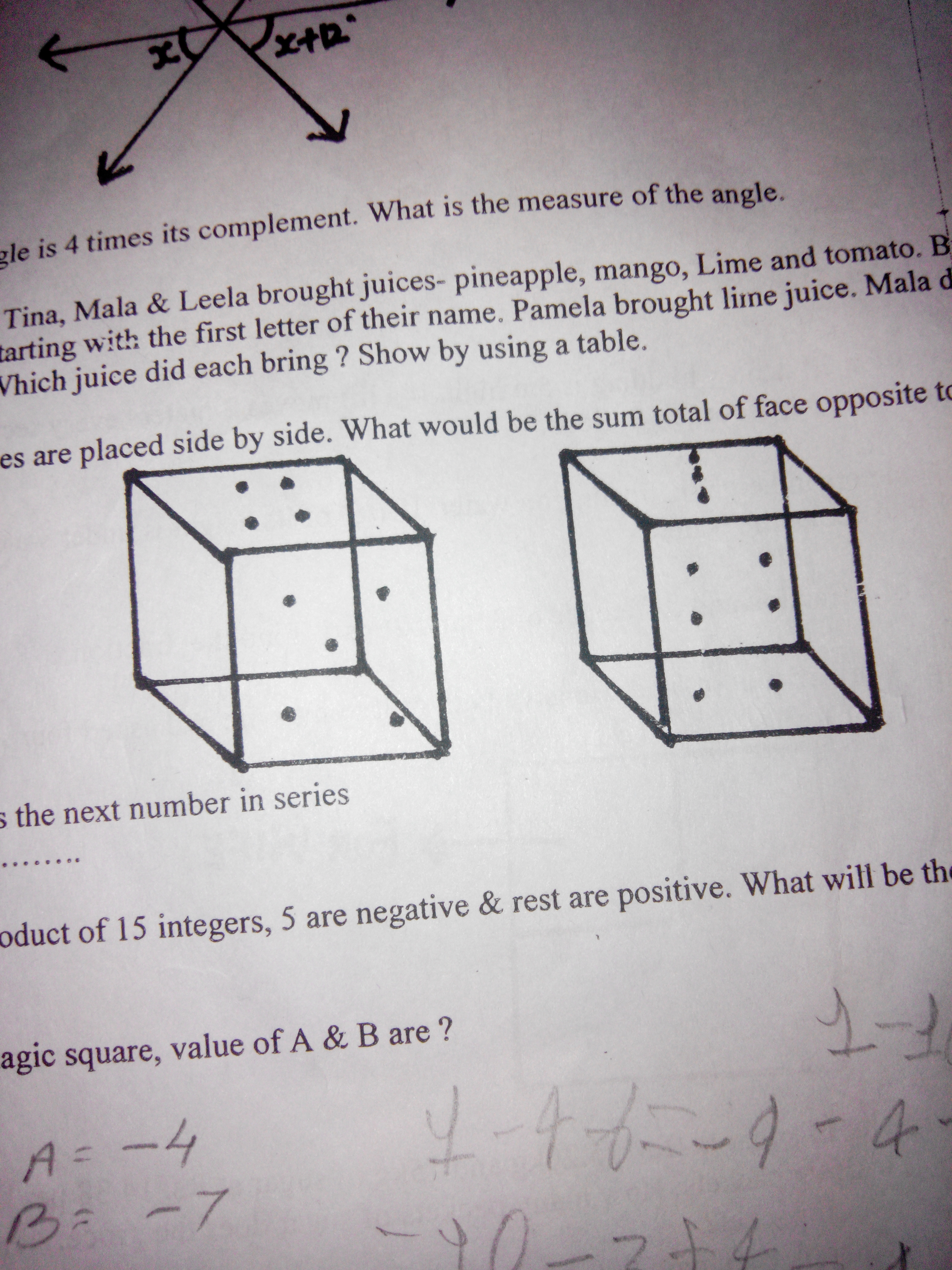 Questions And Answers Of Algebraic Expressions Addition