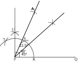 how to construct an angle of measure
