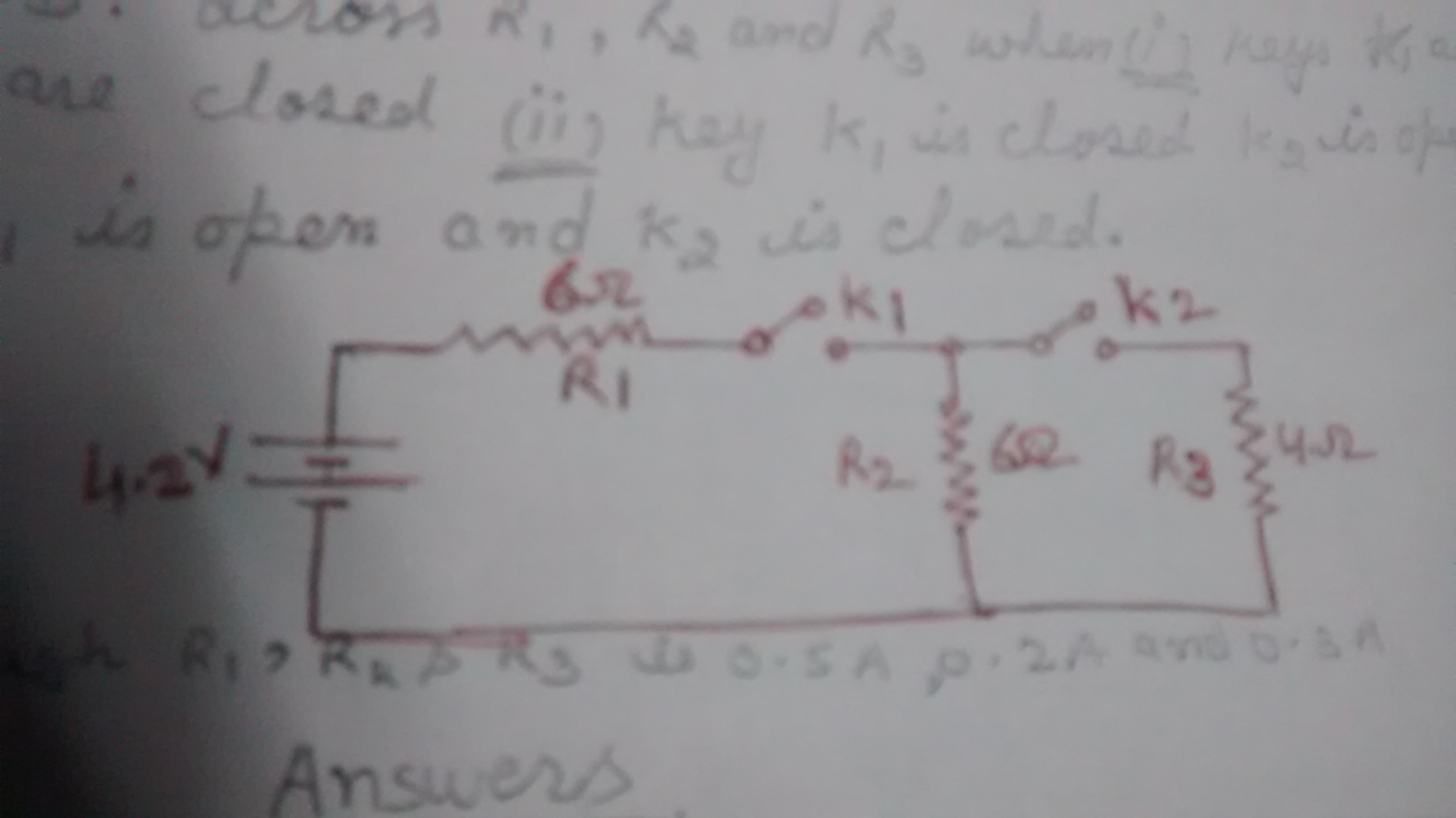 A Circuit Is Set Up As Shown In The Figure Calculate The Current And Pd Across R1 R2 And R3 When