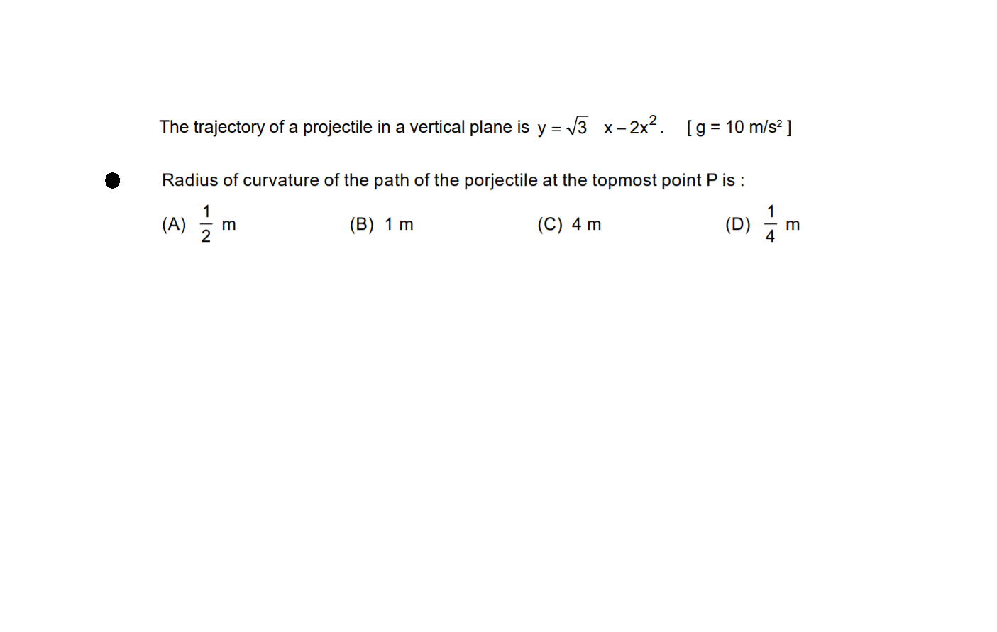 Angled Projectile Motion Problems Worksheet