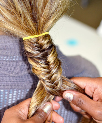 How To Do A Fishtail Braid Step 4 Maintain Evenness How