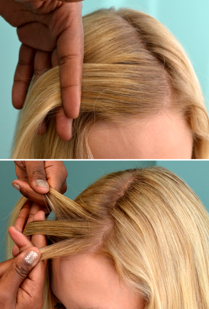 How to Do a Waterfall Braid: Start at the Top