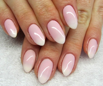 Soft Ombre Almond Shaped Acrylic Nails