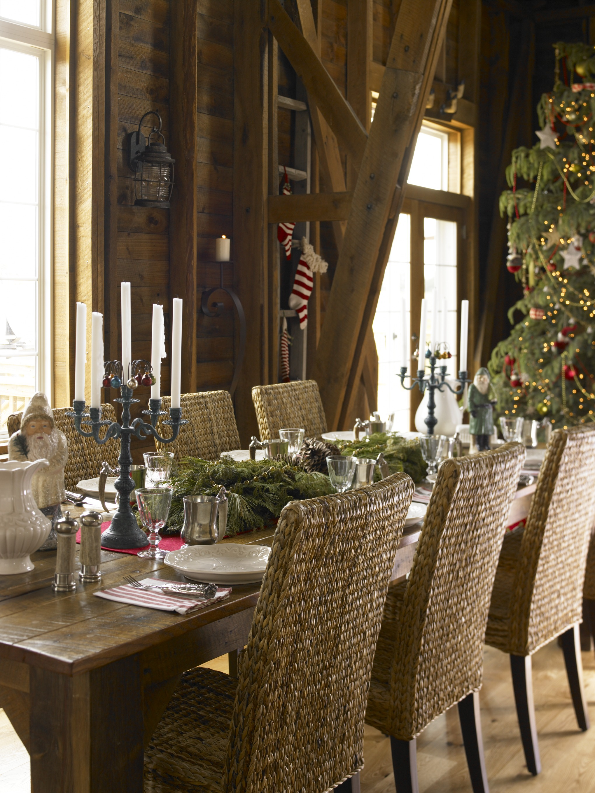 Rustic Christmas Décor | Traditional Home on Traditional Rustic Decor  id=79120