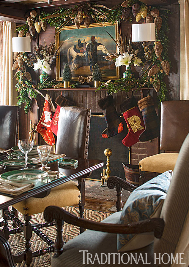 Rustic Christmas Décor | Traditional Home on Traditional Rustic Decor  id=69701