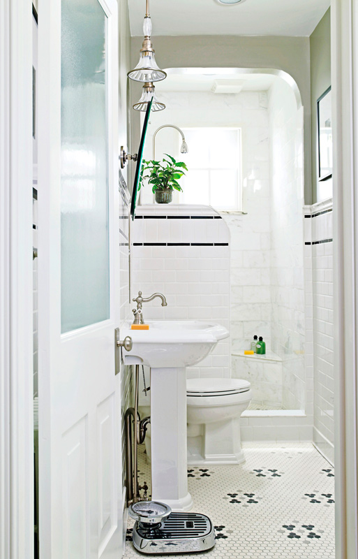 Storage Ideas for Small Bathrooms | Traditional Home on Ideas For Small Bathrooms  id=35520