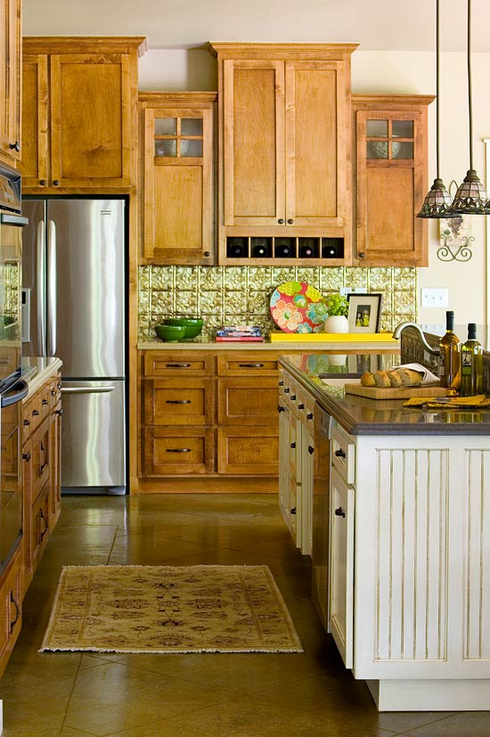 Elegant Kitchens with Warm Wood Cabinets   Traditional Home   ENLARGE