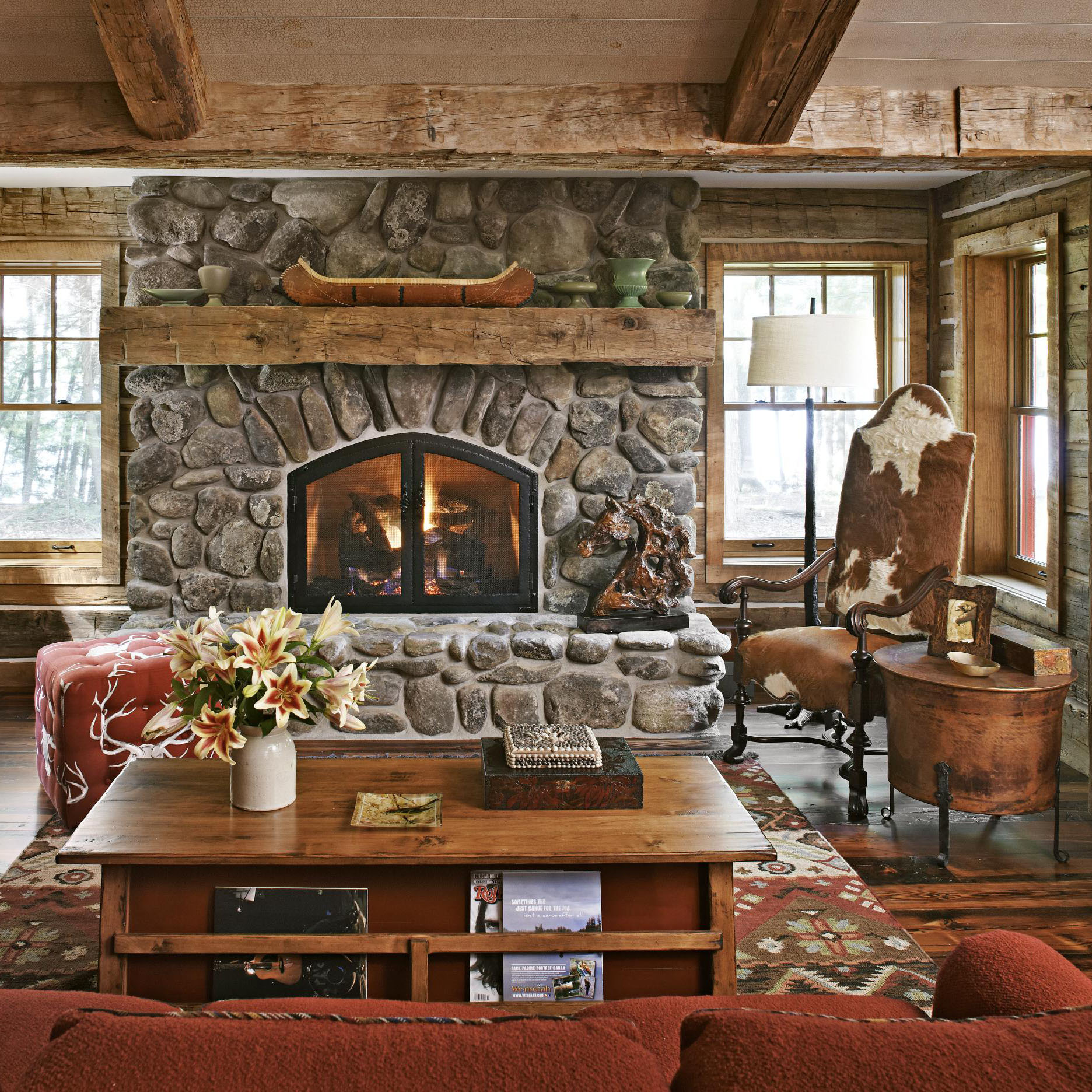 Get the Look: Rustic Mantels | Traditional Home on Rustic Traditional Decor  id=33238