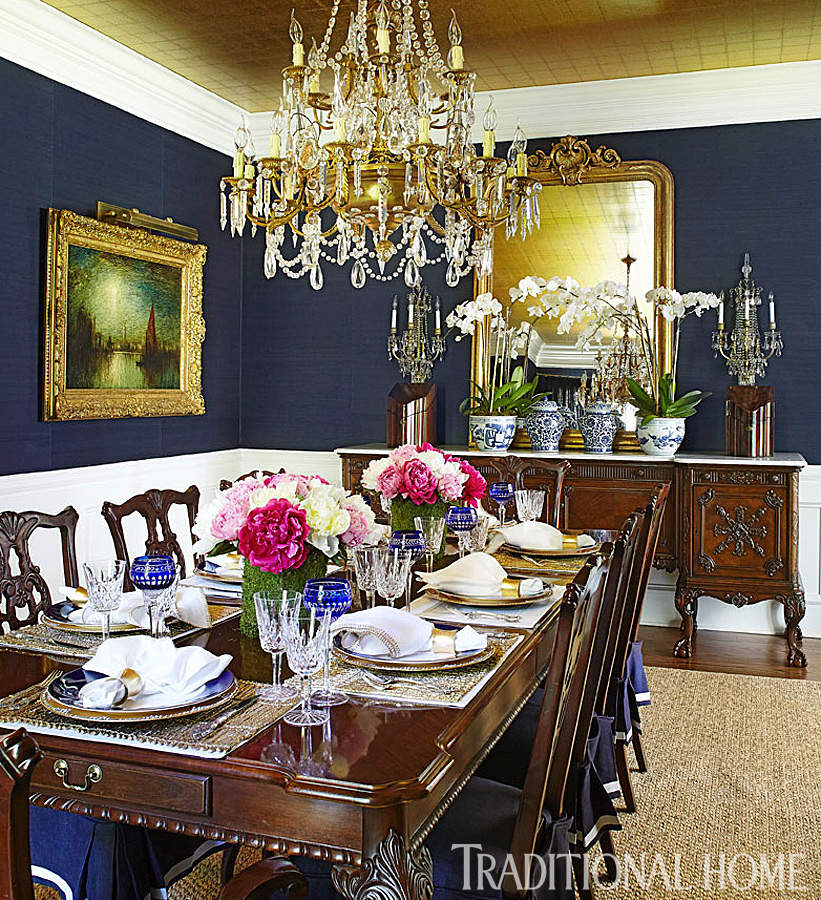 New Home In Navy And Indigo Traditional Home