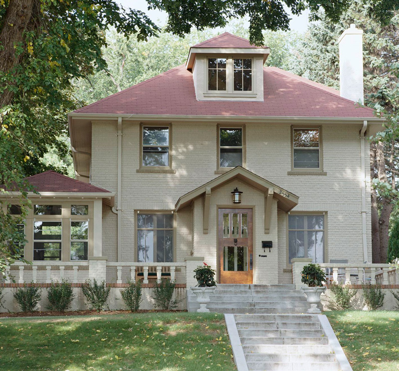 Get the Look  Arts and Crafts Style Architecture   Traditional Home   ENLARGE  Gordon Beall  Craftsman Foursquare