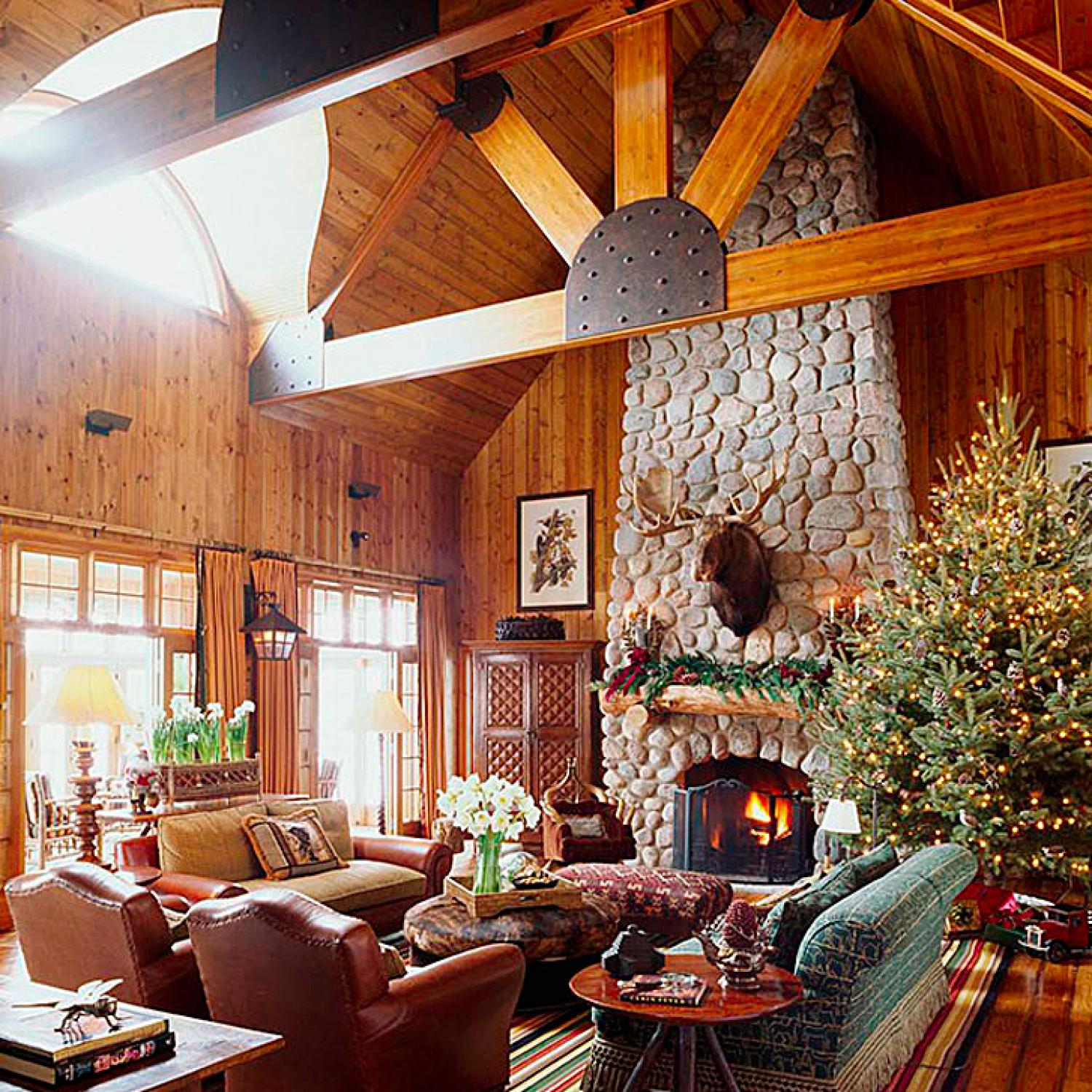 Rustic Christmas Décor | Traditional Home on Rustic Traditional Decor  id=23106