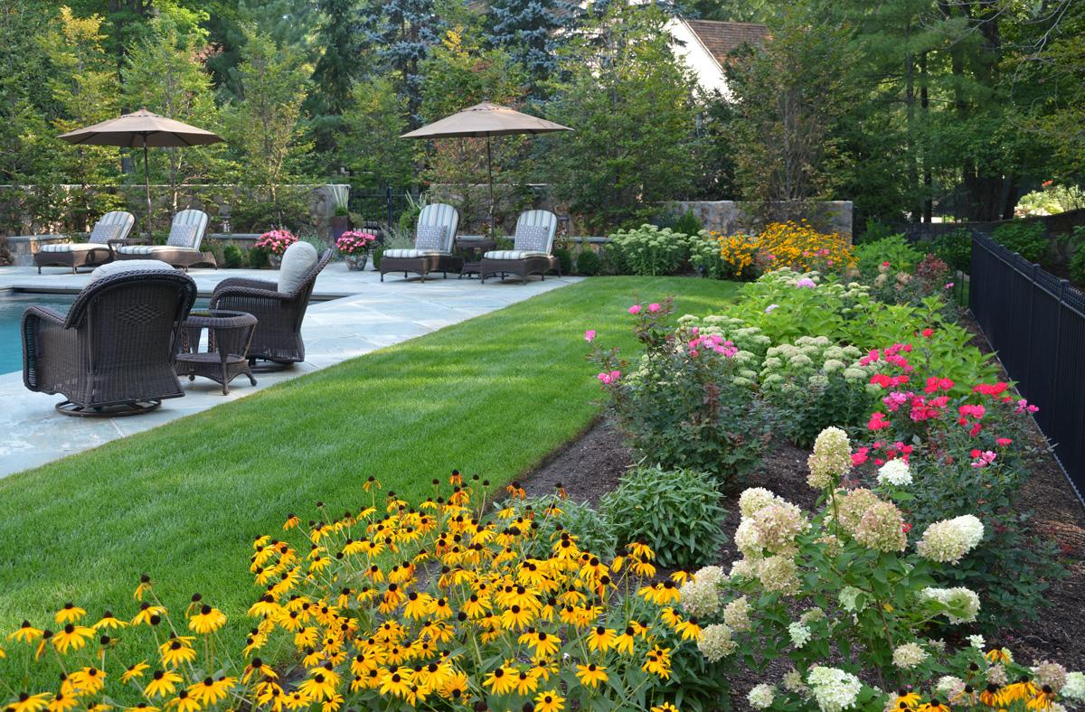 Plan a Colorful Perennial Garden | Traditional Home on Backyard Layout Planner id=20027