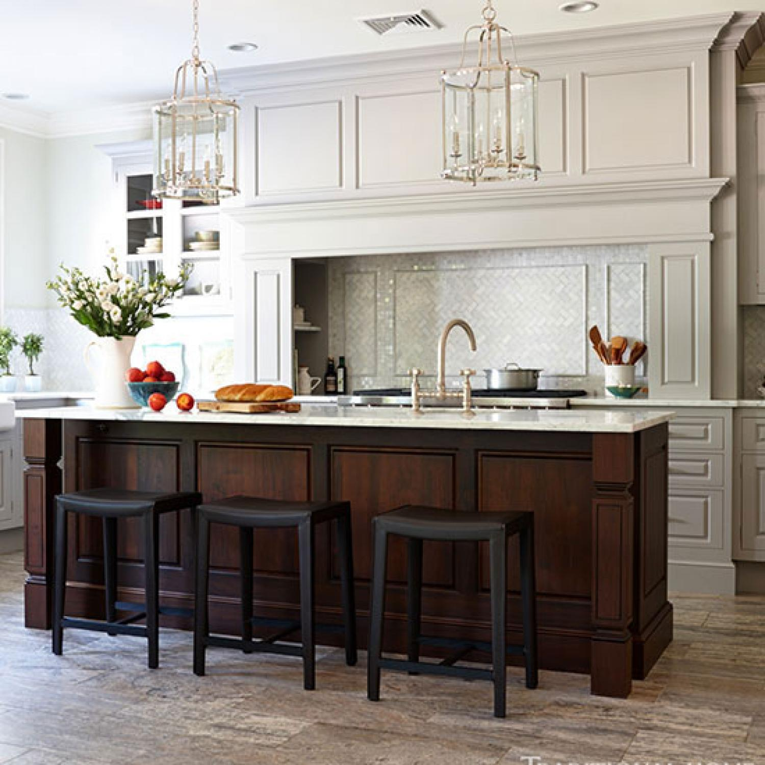 Organized, Efficient Kitchen with Cool and Classic Styling ... on Traditional Kitchen Decor  id=40455