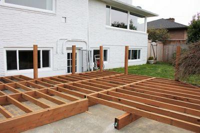 building a deck over concrete