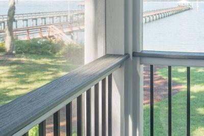 Trex Transcend® Composite Deck Railing Trex | White Railing Black Spindles | Porch | Iron Balusters | Wrought Iron | Porch Railing | Trex Deck