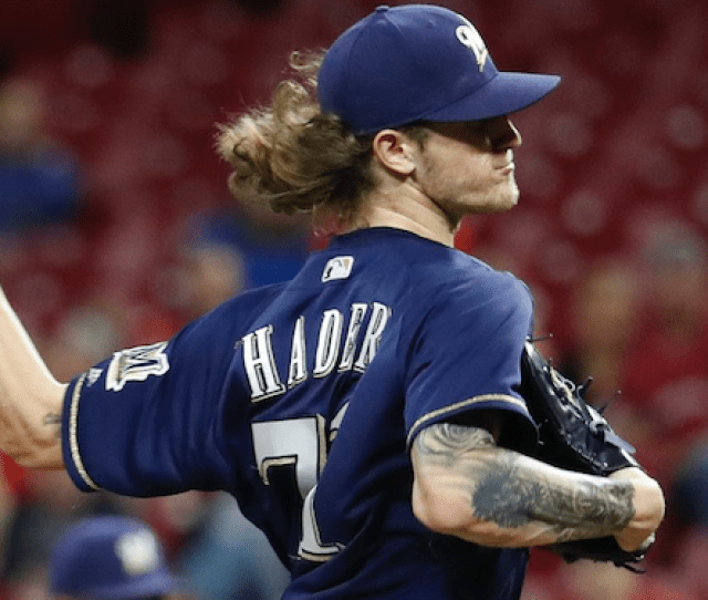 Milwaukee Brewers Reliever Josh Hader Was Dominant Monday Night Striking Out Eight Batters To Record An Eight Out Save Hader Is The First Pitcher To Pull