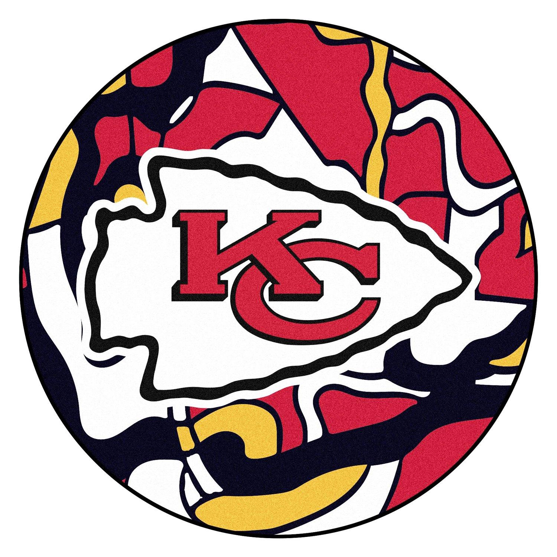 """Pms 186 c, hex color: FanMats® 23294 - """"X-FIT"""" NFL Kansas City Chiefs Round ..."""
