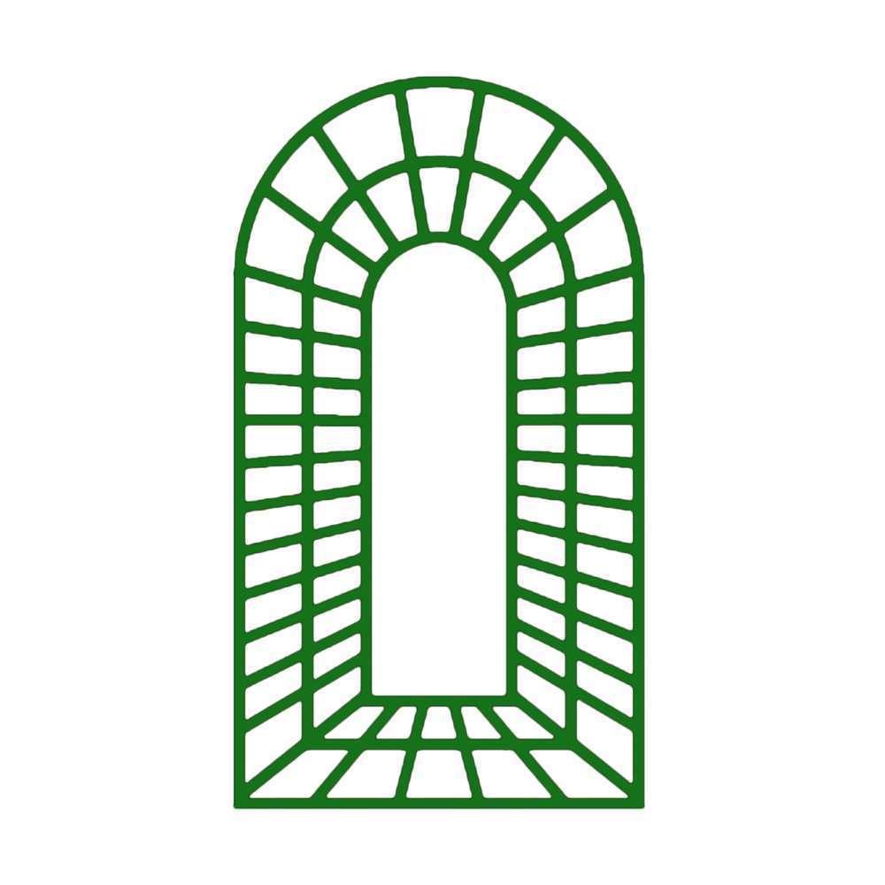 trompe l œil centre en bois vert l 100 x h 197 cm