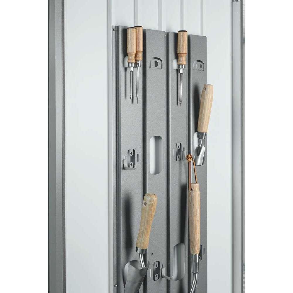 armoire en metal 2 portes grise 227x83x182 cm