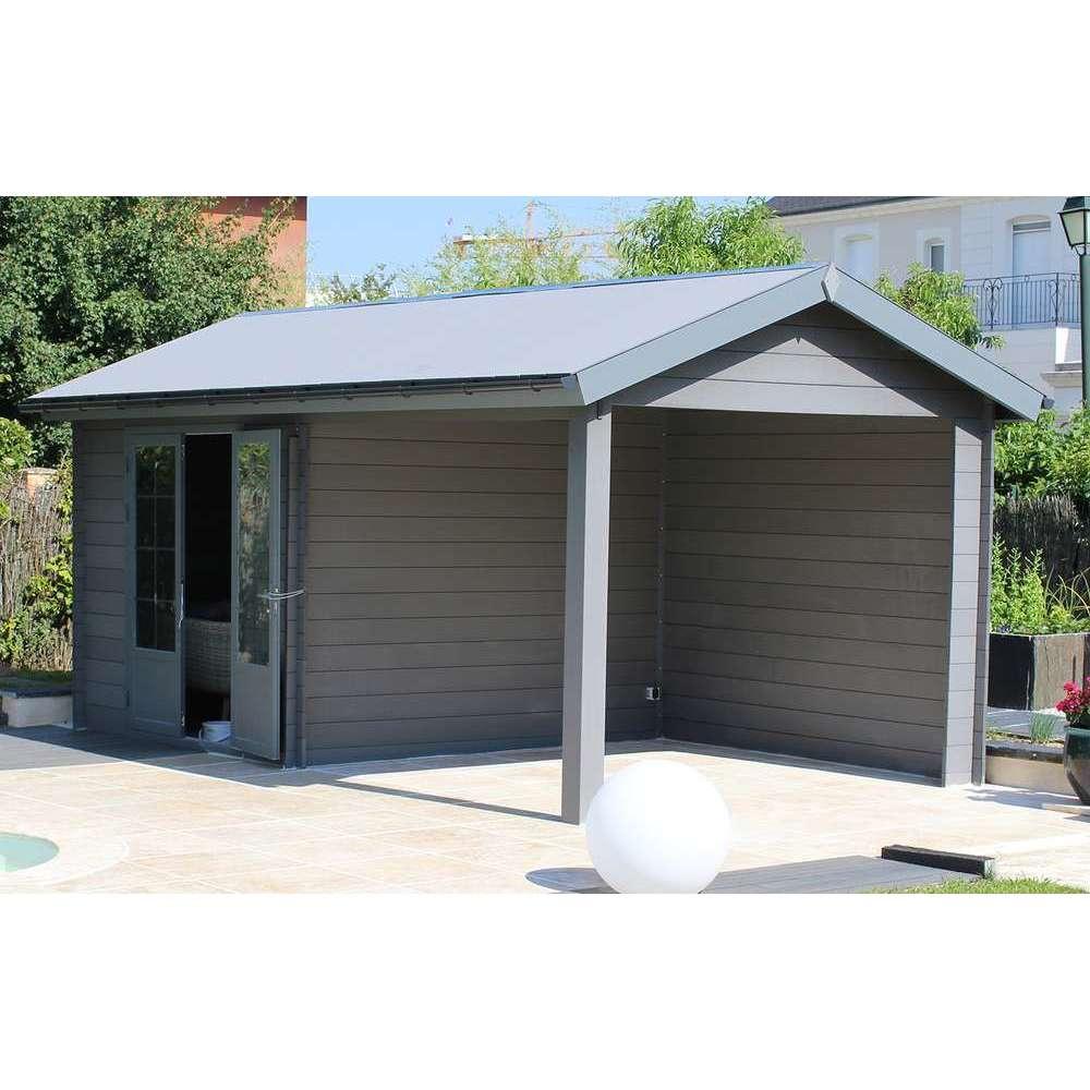 abri de jardin en composite 2 portes gris 2 87 m