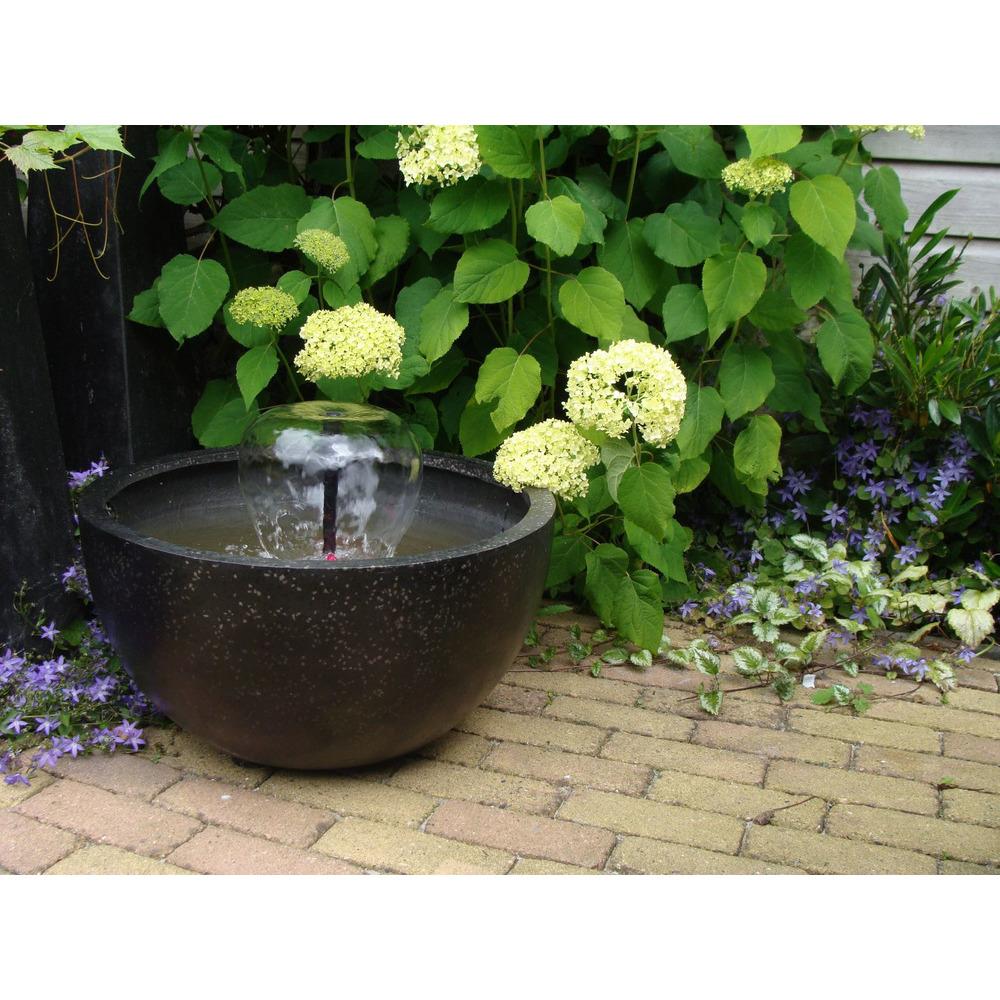 bassin de terasse rond noir diametre 55 cm