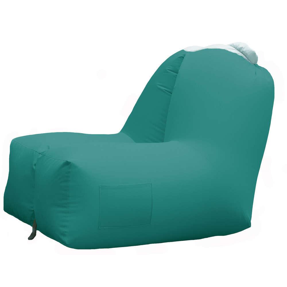 fauteuil gonflable exterieur 91x121x88 coloris turquoise