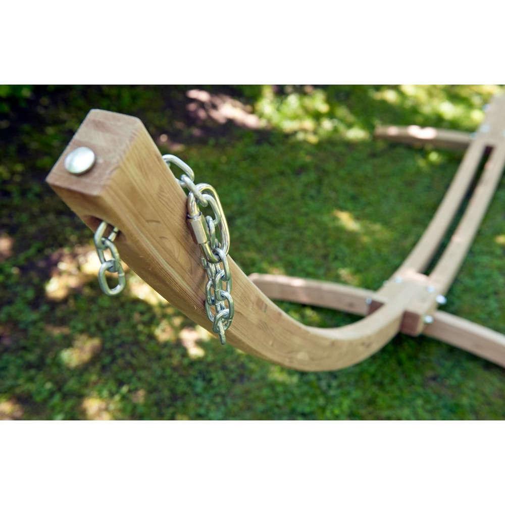 support hamac en bois kronos 358cm