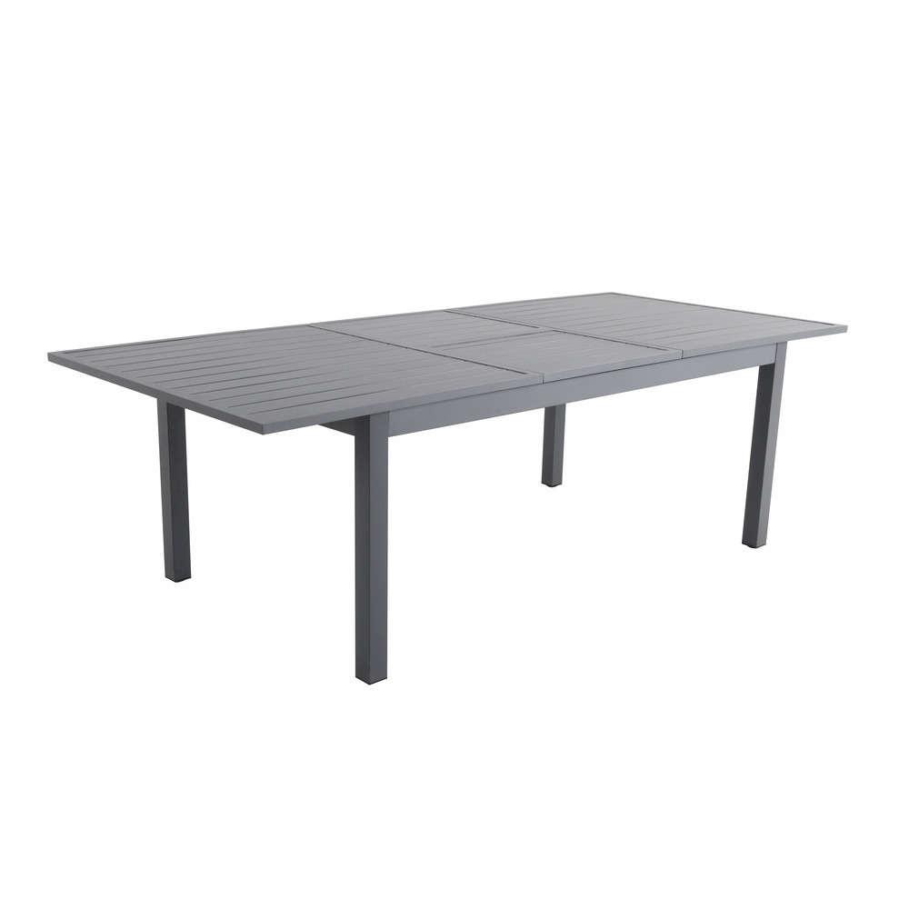 table botica extensible en aluminium avec allonge papillon