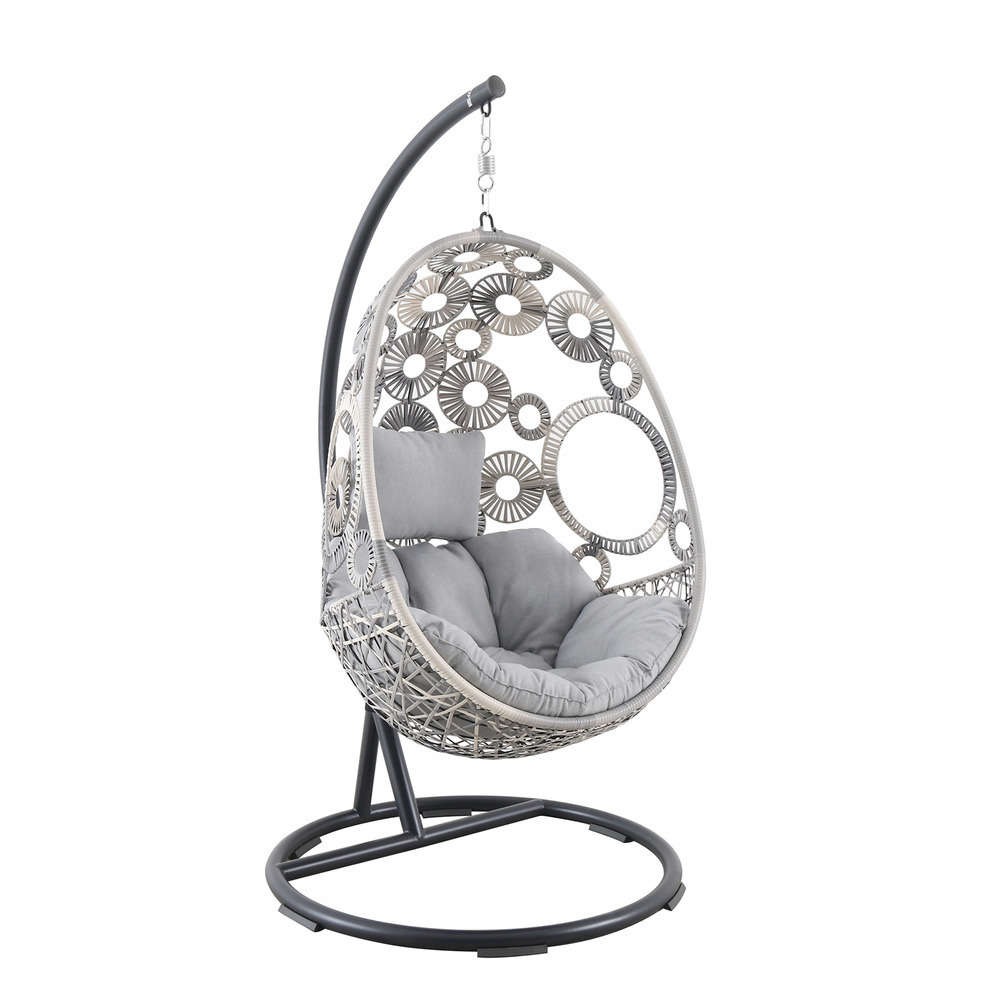 chaise suspendue egg flower