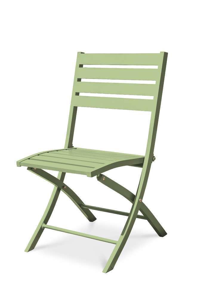 chaise pliante marius en aluminium lagune