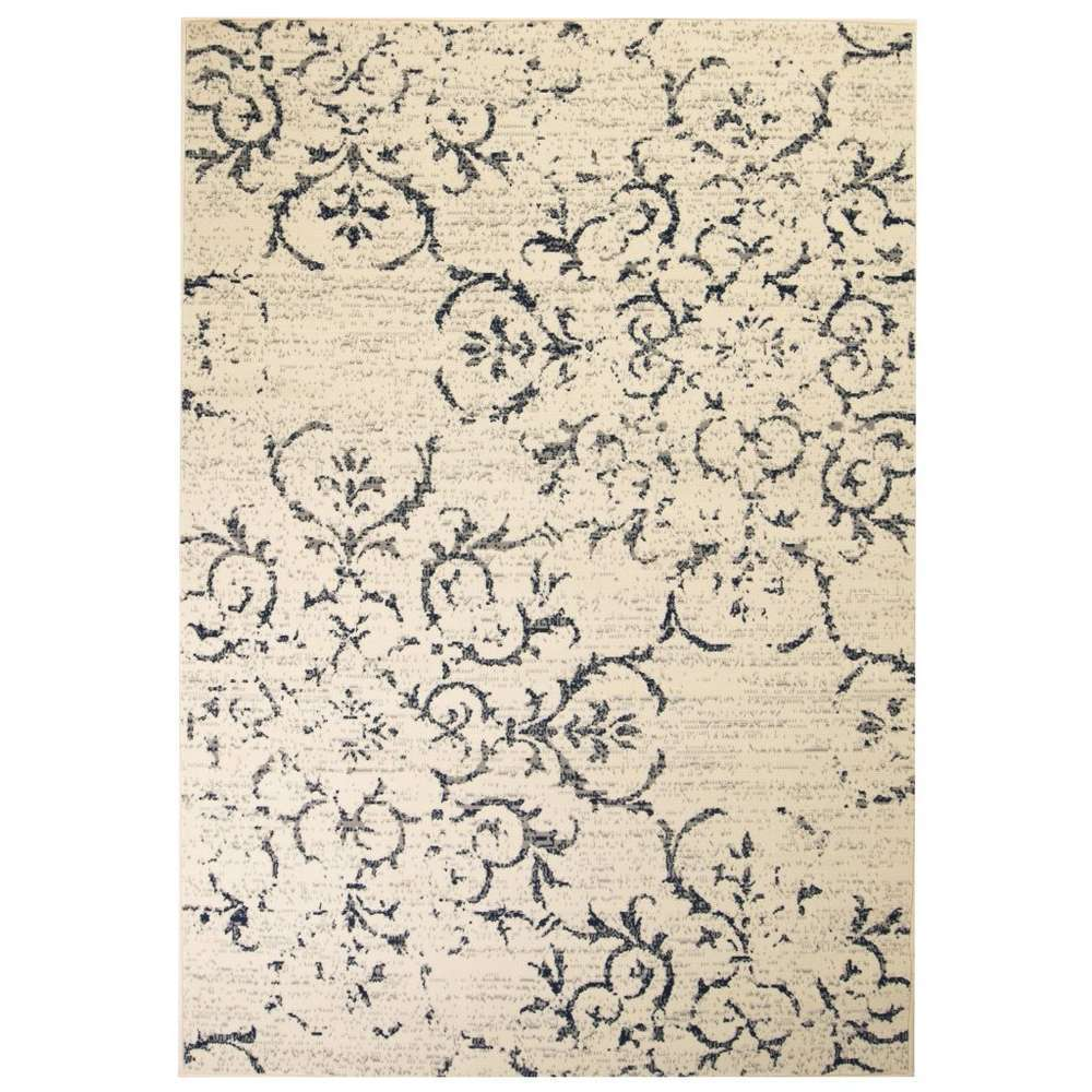 https www truffaut com tapis moderne design floral 80 150 cm beige bleu 861774 html