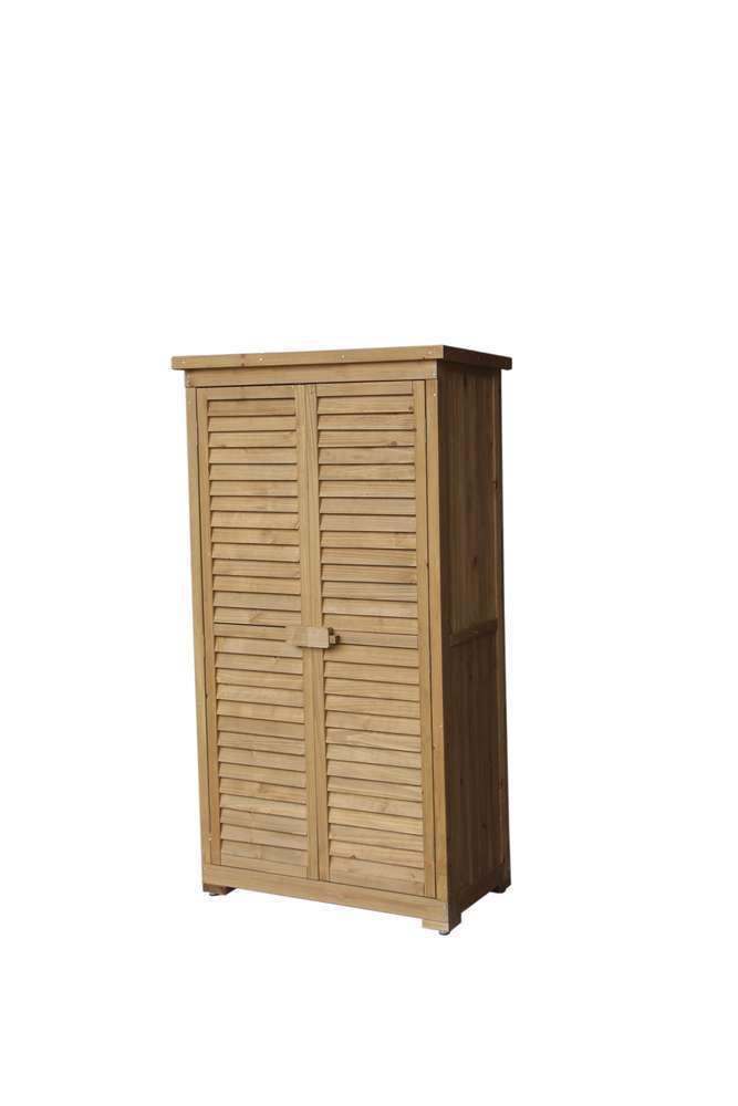armoire de rangement jardin emmy 87 x 46 5 x 160 cm en bois