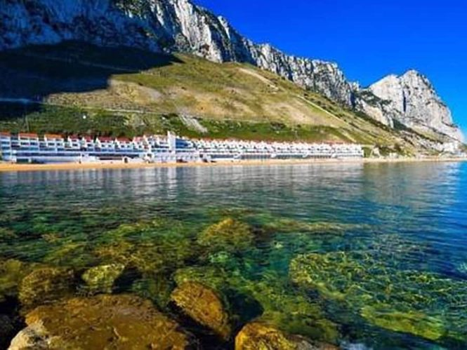 A Bright Modern Studio Apartment With Private Balcony Oerlooking Sandy Bay In Gibraltar Hotel Rates Reviews On Orbitz