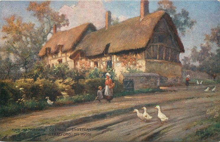 ANNE HATHAWAYS COTTAGE SHOTTERY STRATFORD ON AVON
