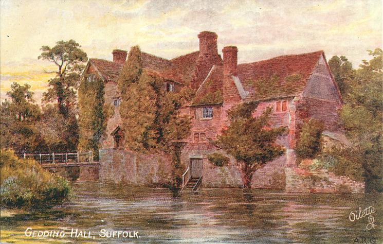 GEDDING HALL SUFFOLK TuckDB Postcards