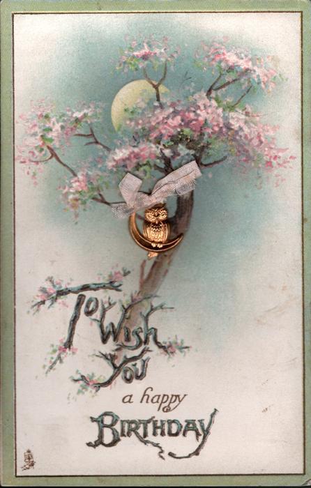 TO WISH YOU A HAPPY BIRTHDAY Blossom Tree Half Moon