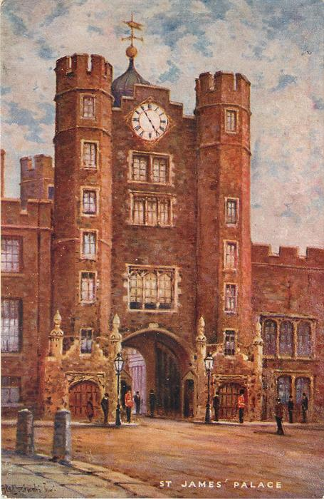 St James Palace Tuckdb Postcards