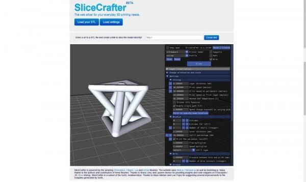 logiciel impression 3d slicecrafter