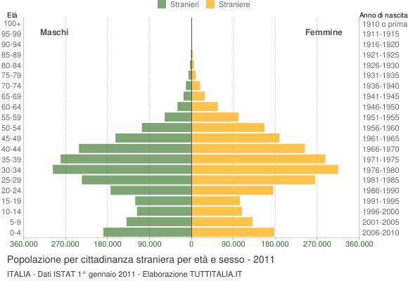 Grafico cittadini stranieri - 2011