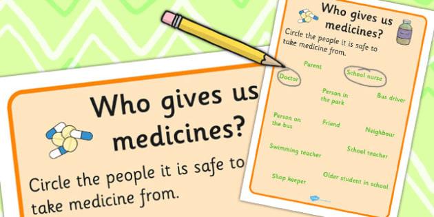 Who Gives Us Medicines Worksheet