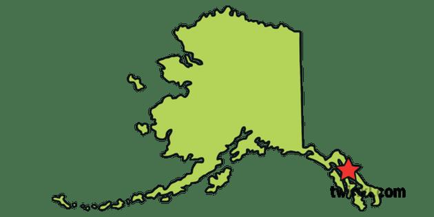Alaska Outline Usa State Map Juneau Capital Ks1 Illustration Twinkl