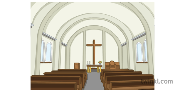Inside Of A Church Illustration Religious Education In Primary Schools