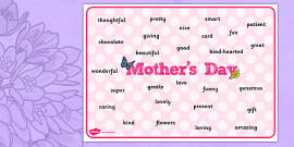 Mother's Day Acrostic Poem Sheets (Flowers) - acrostic poems