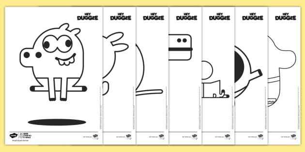 free!  bbc children in need hey duggee coloring pages