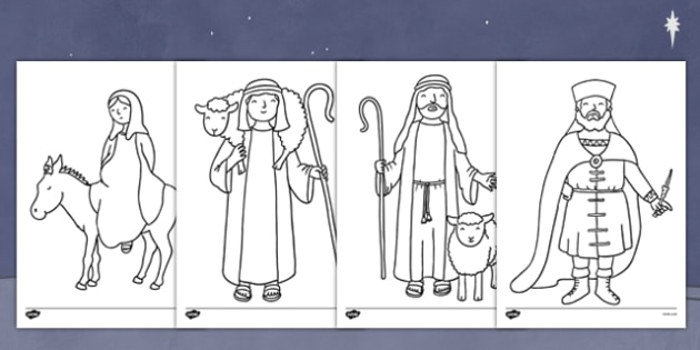 The Nativity Colouring Pages Nativity Colour Pages